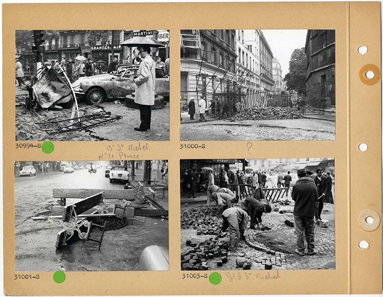 Boulevard-Saint-Michel-Rue-Monsieur-le-Prince-25-mai-1968