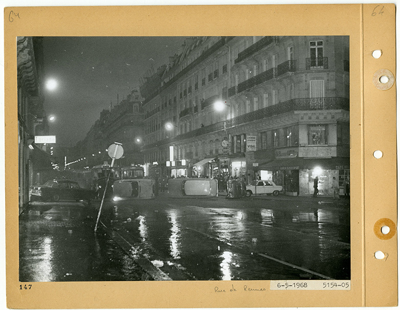 Manifestation-Saint-Germain-Rue-de-Rennes-6-mai-1968